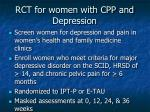 rct for women with cpp and depression