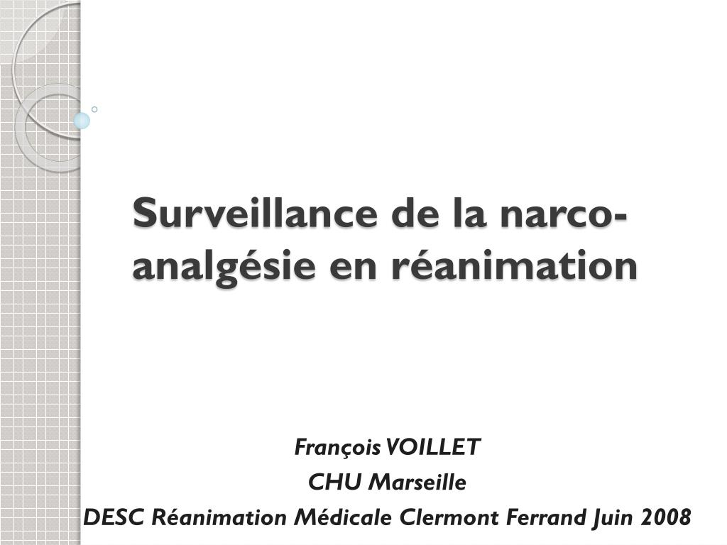 surveillance de la narco analg sie en r animation l.