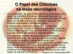 o papel das citocinas na les o neurol gica68