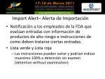 import alert alerta de importaci n