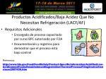 productos acidificados baja acidez que no necesitan refrigeraci n lacf af35