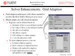 solver enhancements grid adaption