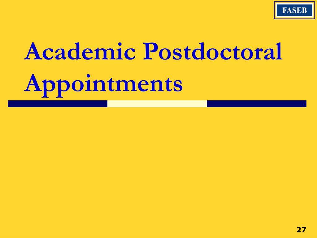 Academic Postdoctoral Appointments