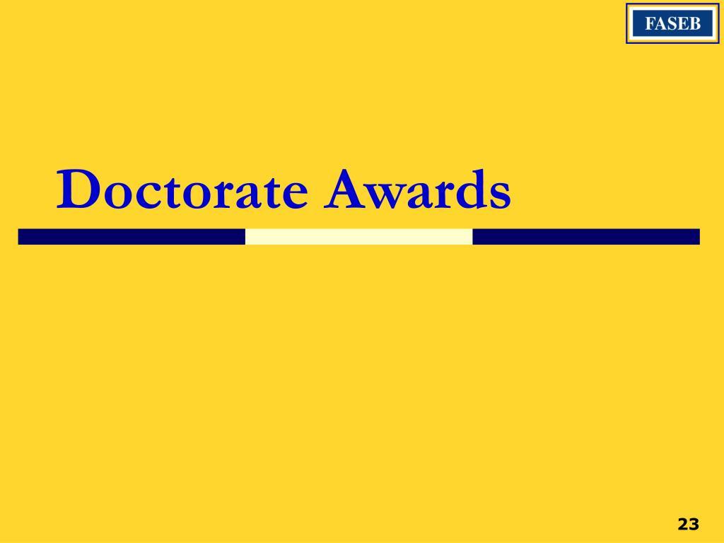 Doctorate Awards