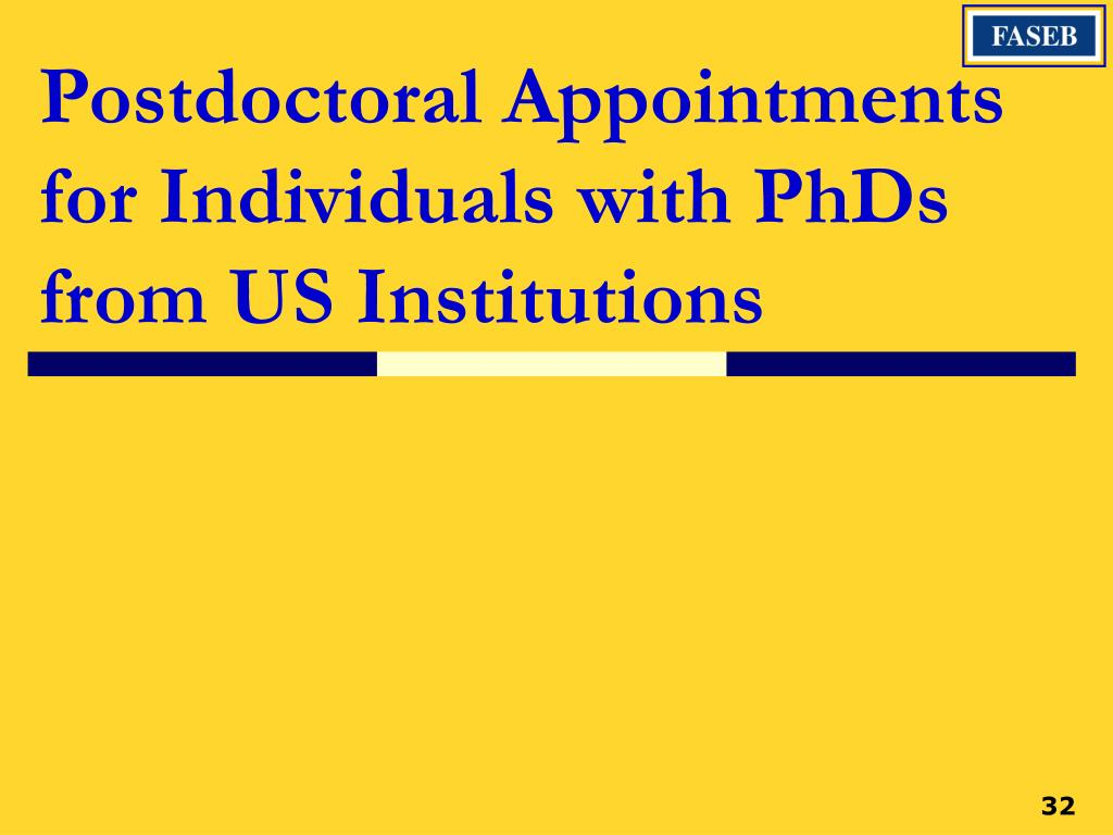 Postdoctoral Appointments for Individuals with PhDs from US Institutions