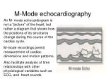 m mode echocardiography