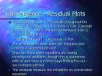 convergence residual plots
