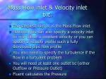 mass flow inlet velocity inlet b c