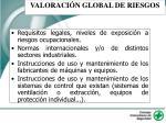 valoraci n global de riesgos