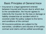 basic principles of general insce