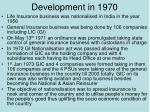 development in 1970