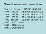 general insurance business done