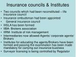 insurance councils institutes