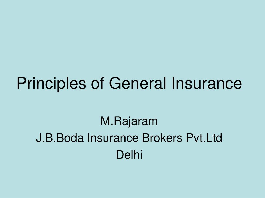 principles of general insurance l.