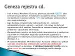 geneza rejestru cd4