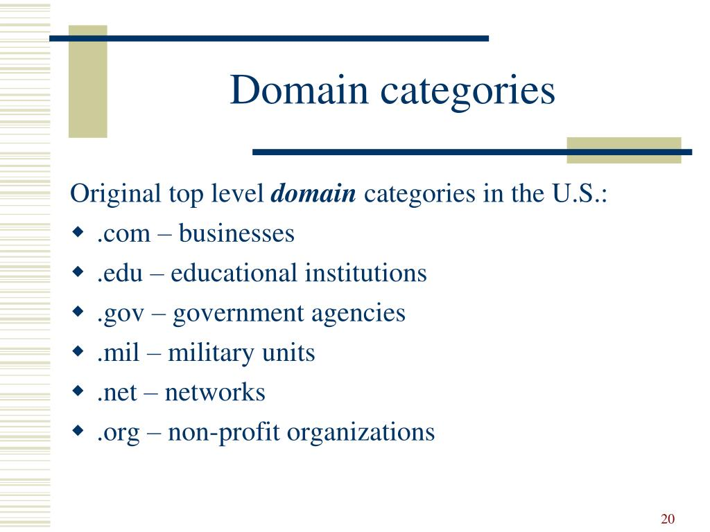Domain categories