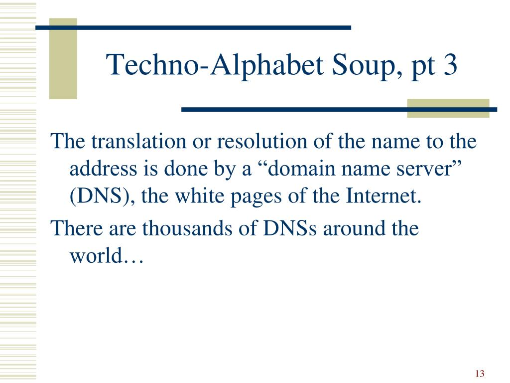 Techno-Alphabet Soup, pt 3