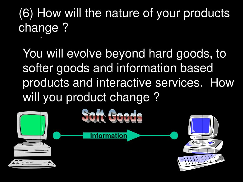 (6) How will the nature of your products