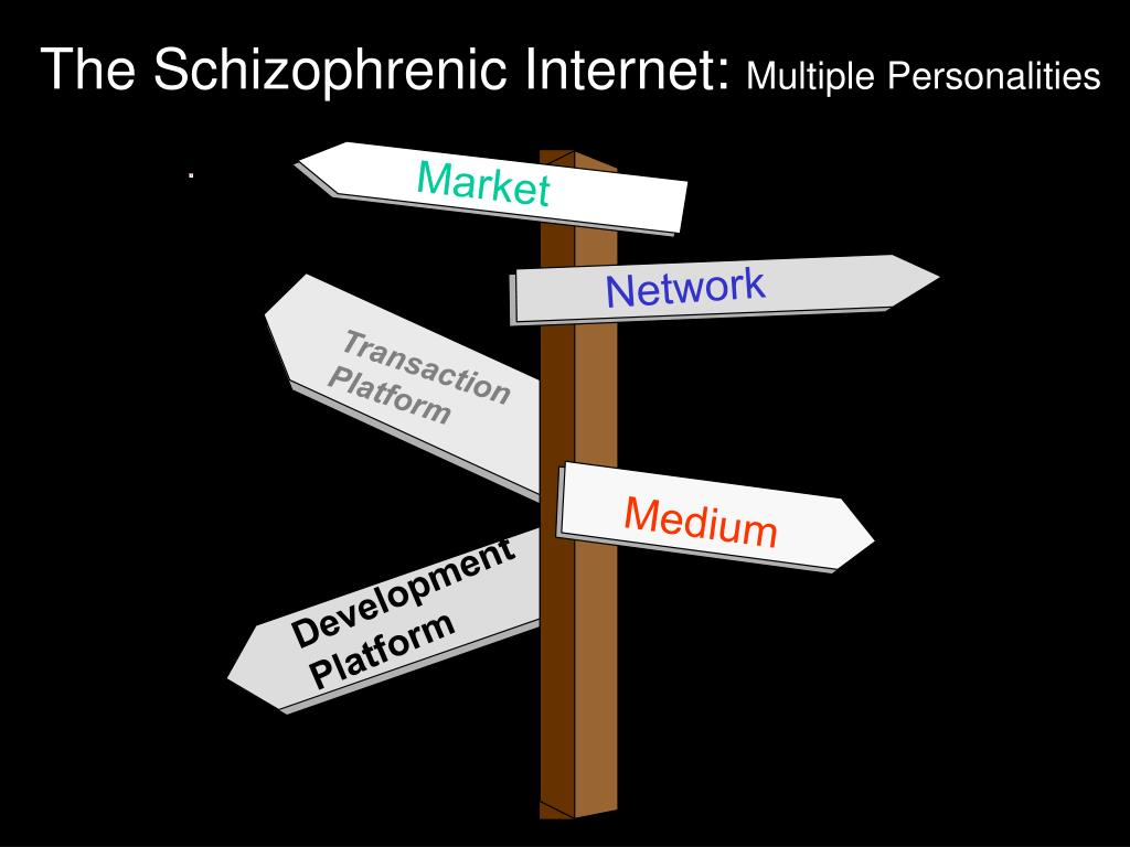 The Schizophrenic Internet: