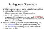 ambiguous grammars23