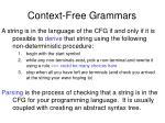 context free grammars5