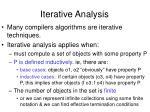 iterative analysis