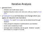 iterative analysis43