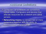 additional definitions