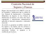 comisi n nacional de seguros y fianzas