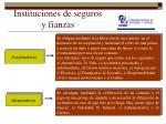 instituciones de seguros y fianzas