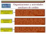 organizaciones y actividades auxiliares de cr dito