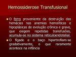 hemossiderose transfusional