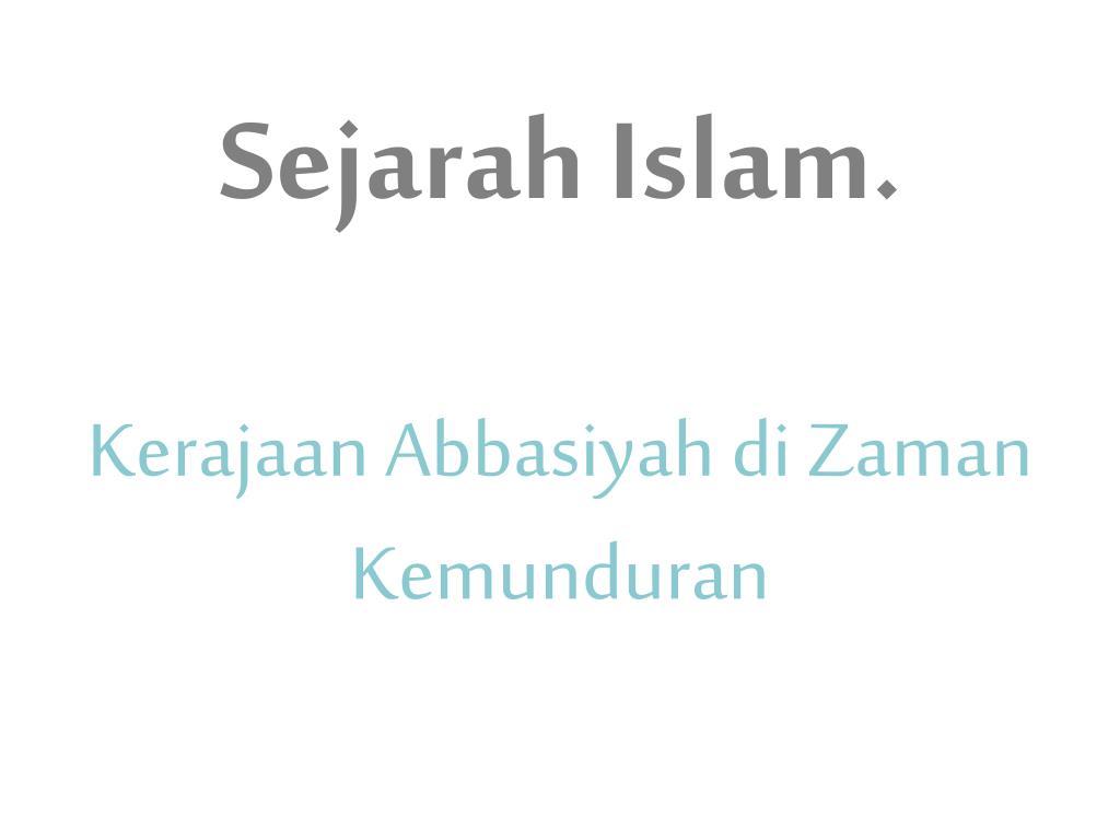 Sejarah Islam.