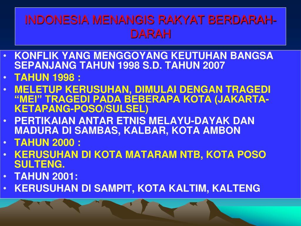 INDONESIA MENANGIS RAKYAT BERDARAH-DARAH