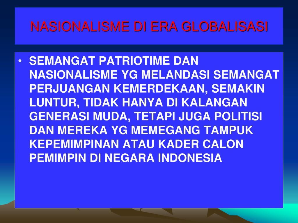 NASIONALISME DI ERA GLOBALISASI