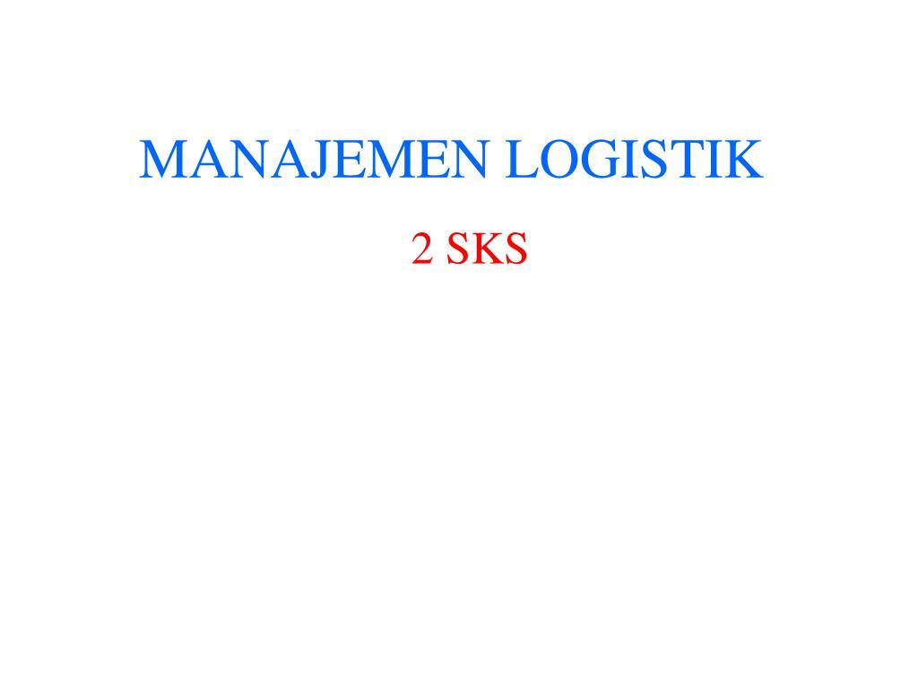 manajemen logistik l.