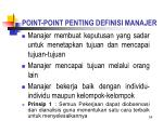 point point penting definisi manajer