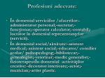 profesiuni adecvate35