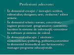 profesiuni adecvate95