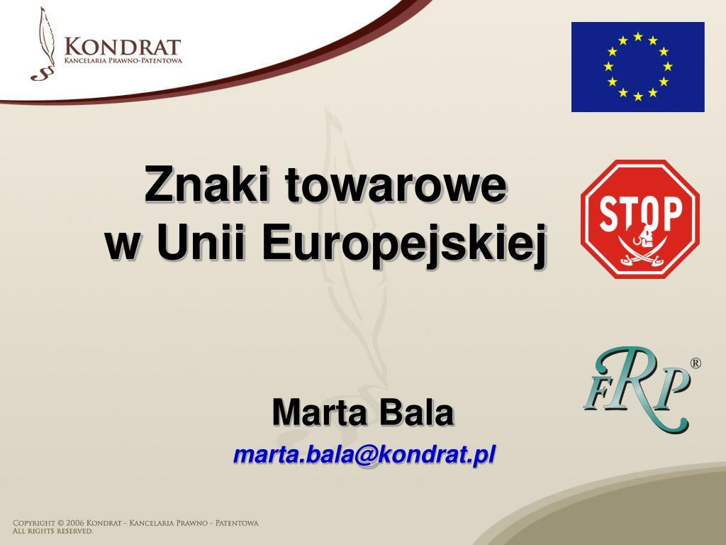 znaki towarowe w unii europejskiej l.