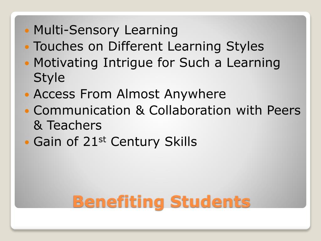 Multi-Sensory Learning