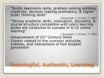 meaningful authentic learning