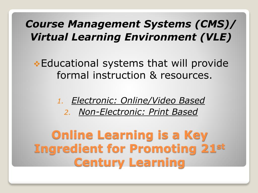 Course Management Systems (CMS)/