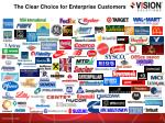 the clear choice for enterprise customers