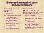 elementos de um modelo de dados l gico multidimensional