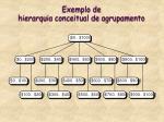 exemplo de hierarquia conceitual de agrupamento
