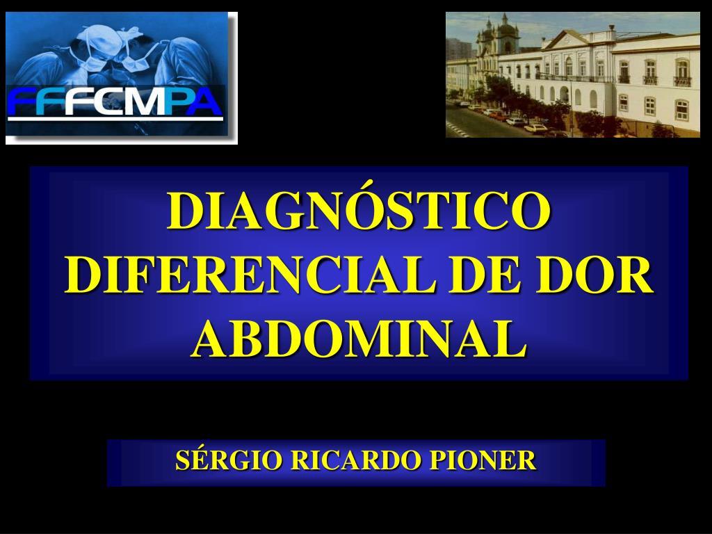 diagn stico diferencial de dor abdominal l.