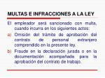 multas e infracciones a la ley