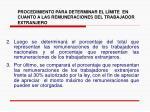 procedimiento para determinar el l mite en cuanto a las remuneraciones del trabajador extranjero38