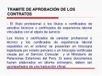 tramite de aprobaci n de los contratos22